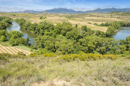 rioja: Meander of Ebro river, La Rioja, Spain