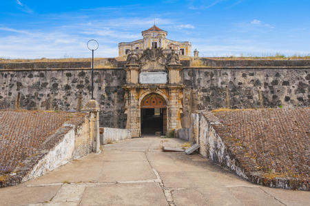 our lady: Gate of the Our Lady of Grace Fort in Elvas, Portugal Editorial