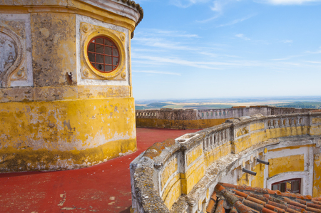 our lady: Ruins of Our Lady of Grace Fort in Elvas, Portugal Stock Photo