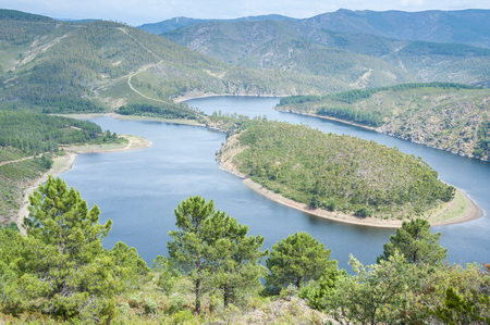 meander: Meander of the Alagon River, Extremadura, Spain