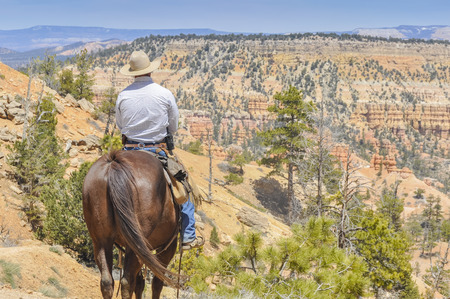 western usa: Cowboy in Bryce Canyon national park, USA