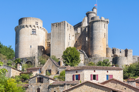 aquitaine: Castle of Bonaguil, Aquitaine, France Editorial