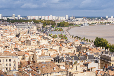 Aerial view of the city of Bordeaux, France Stock Photo