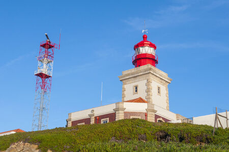 cabo: Lighthouse of Cabo da Roca, Portugal Stock Photo