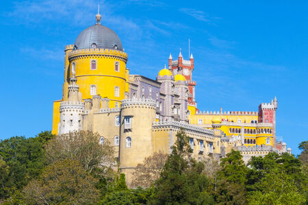 the pena national palace: Pena National Palace, Sintra town, Portugal