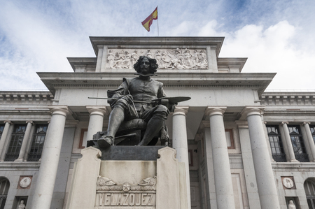 velazquez: Statue of Velazquez in Prado museum, Madrid, Spain