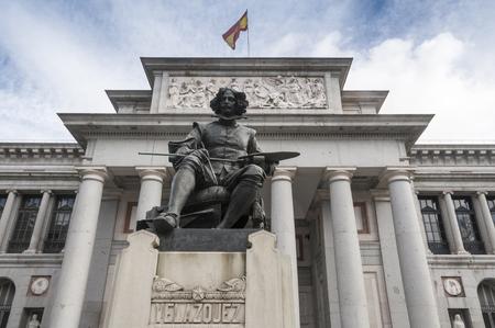 velazquez: Statue of Velazquez in Prado museum, Madrid, Spain