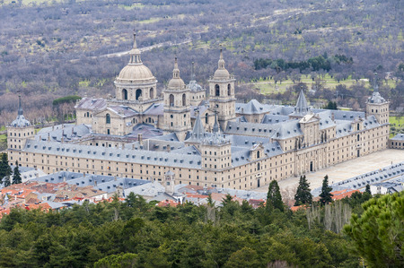 Royal Monastery of San Lorenzo de El Escorial, Madrid Stockfoto