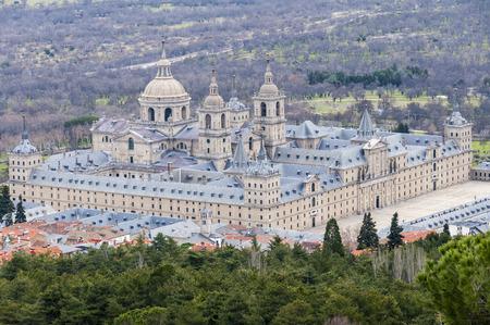 lorenzo: Royal Monastery of San Lorenzo de El Escorial, Madrid Stock Photo