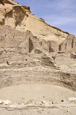 kiva: Pueblo Bonito ruins, Chaco Canyon, New Mexico, USA Stock Photo