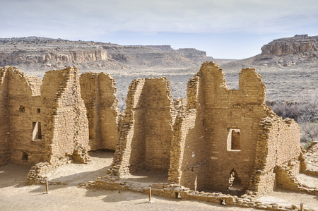 chaco: Kin Kletso ruins, Chaco Canyon, New Mexico, USA Stock Photo