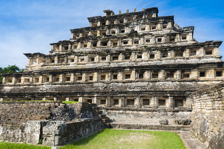 Pyramid of the Niches, El Tajin, Veracruz, Mexico Stock Photo
