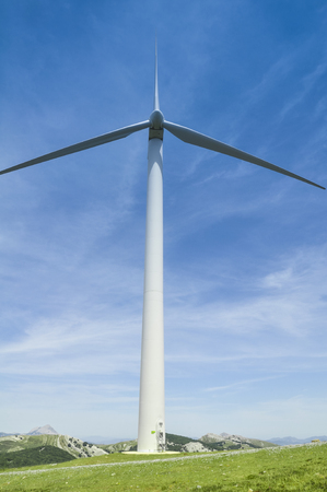 basque country: Wind turbine, Basque Country, Spain Stock Photo