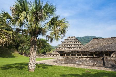 Archaeological site of El Tajin, Veracruz, Mexico Zdjęcie Seryjne - 35050226