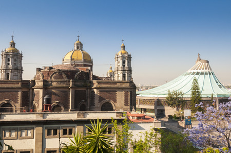 Shrine of Our Lady of Guadalupe in Mexico city Stock Photo