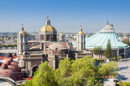 roman catholic: Shrine of Our Lady of Guadalupe in Mexico city Stock Photo