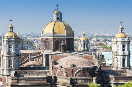 cathedrals: Shrine of Our Lady of Guadalupe in Mexico city Stock Photo