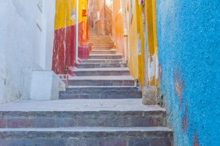 Colorful alley in Guanajuato, Mexico Archivio Fotografico