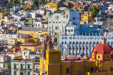 Downtown of Guanajuato from El Pipila monument, Mexico Stock Photo