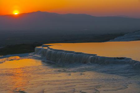 pamukkale: Sunset at Pamukkale, Turkey