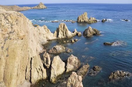 littoral: Reef of Las Sirenas, Cabo de Gata national park, Almeria, Spain