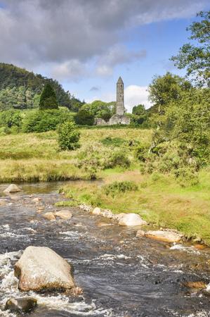 Glendalough monastic settlement, Ireland Stock Photo