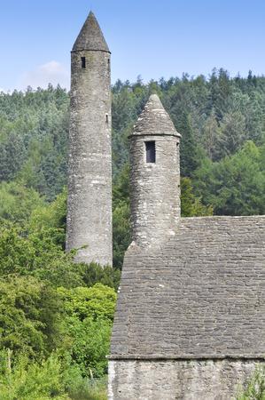 monastic sites: Glendalough monastic settlement, Ireland Stock Photo