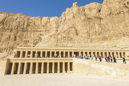 necropolis: Hatshepsuts temple, Theban Necropolis, Egypt Editorial