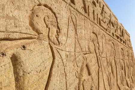 Wall carving, the Great Temple of Abu Simbel, Egypt