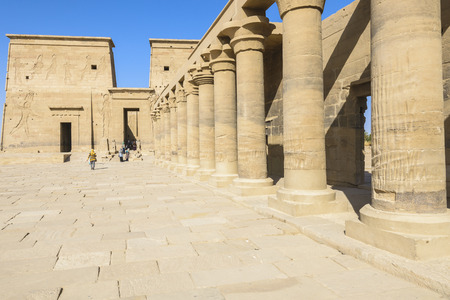 The temple of Isis from Philae, Aswan, Egypt photo