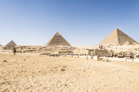 chephren: General view of Pyramids of Giza, Egypt