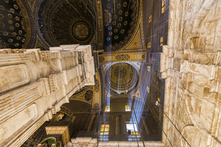ali: Inside of the mosque of Muhammad Ali, Saladin Citadel of Cairo, Egypt