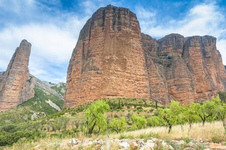 huesca: Mallos of Riglos, Huesca, Spain Stock Photo