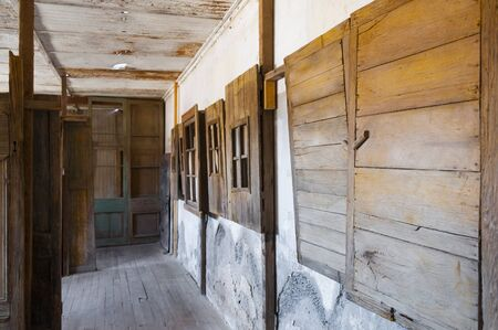 urban decline: Ghost town of Humberstone, Chile
