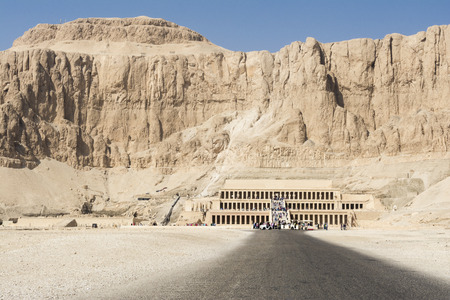 west bank: Hatshepsut temple at west bank of Luxor, Egypt Stock Photo