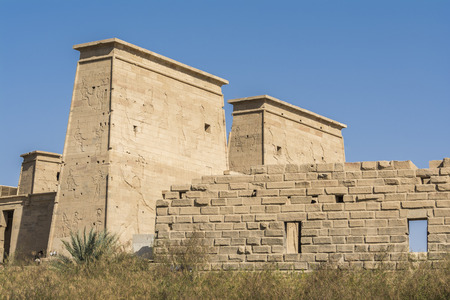 The temple of Isis from Philae, Aswan. Egypt photo