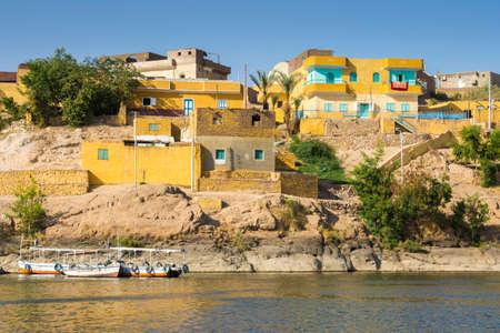 lake dwelling: Nubian traditional village, lake Nasser, Egypt