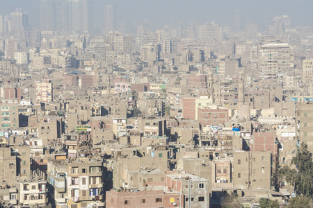 citadel: Downtown of Cairo seen from the Saladin Citadel, Egypt Stock Photo