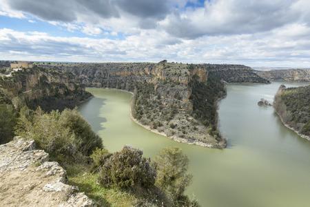 castille: Duraton Canyon Natural Park in Segovia, Spain