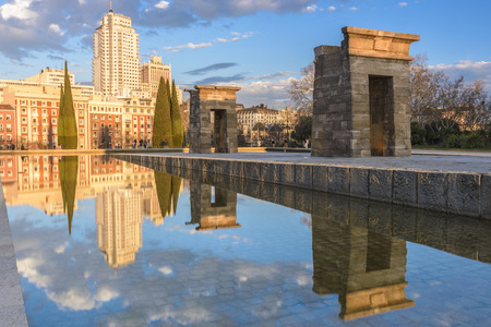 temple tower: Temple of Debod, Madrid, Spain