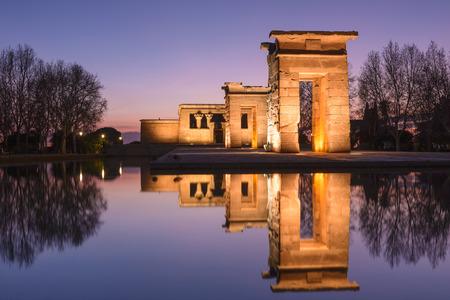 madrid  spain: Temple of Debod, Madrid, Spain