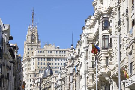 gran via: Buildings situated on representative Gran Via street, Madrid