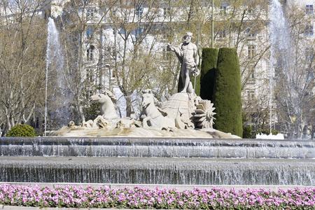 castellana: Fountain of Neptune, Madrid, Spain