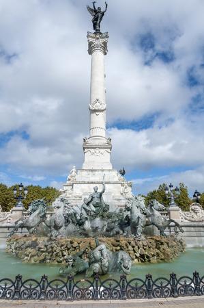 aquitaine: Column of the Girondins memorial in Bordeaux, Aquitaine, France