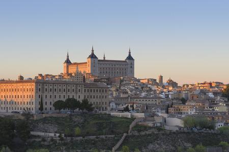 alcazar: Panoramic view of Toledo and Alcazar, Spain
