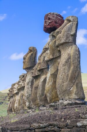 easter island: Moais of Ahu Tongariki, Easter island, Chile