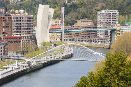 salve: View of Bilbao city from Etxebarria park, Spain
