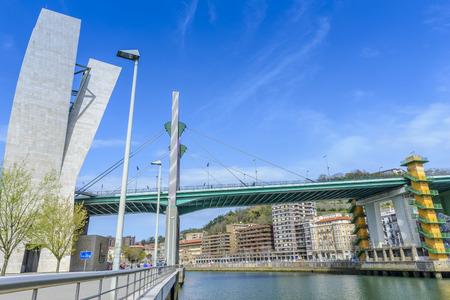salve: La Salve bridge in Bilbao, Basque Country, Spain