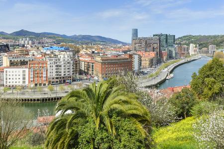 spanish village: View of Bilbao city from Etxebarria park, Spain