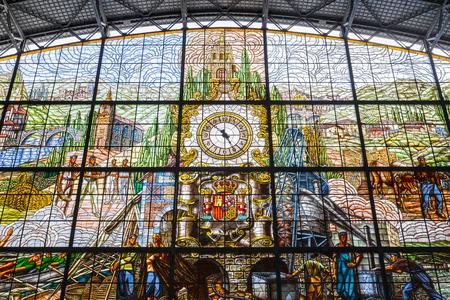아반 역 스테인드 글라스 창, 빌바오, 스페인